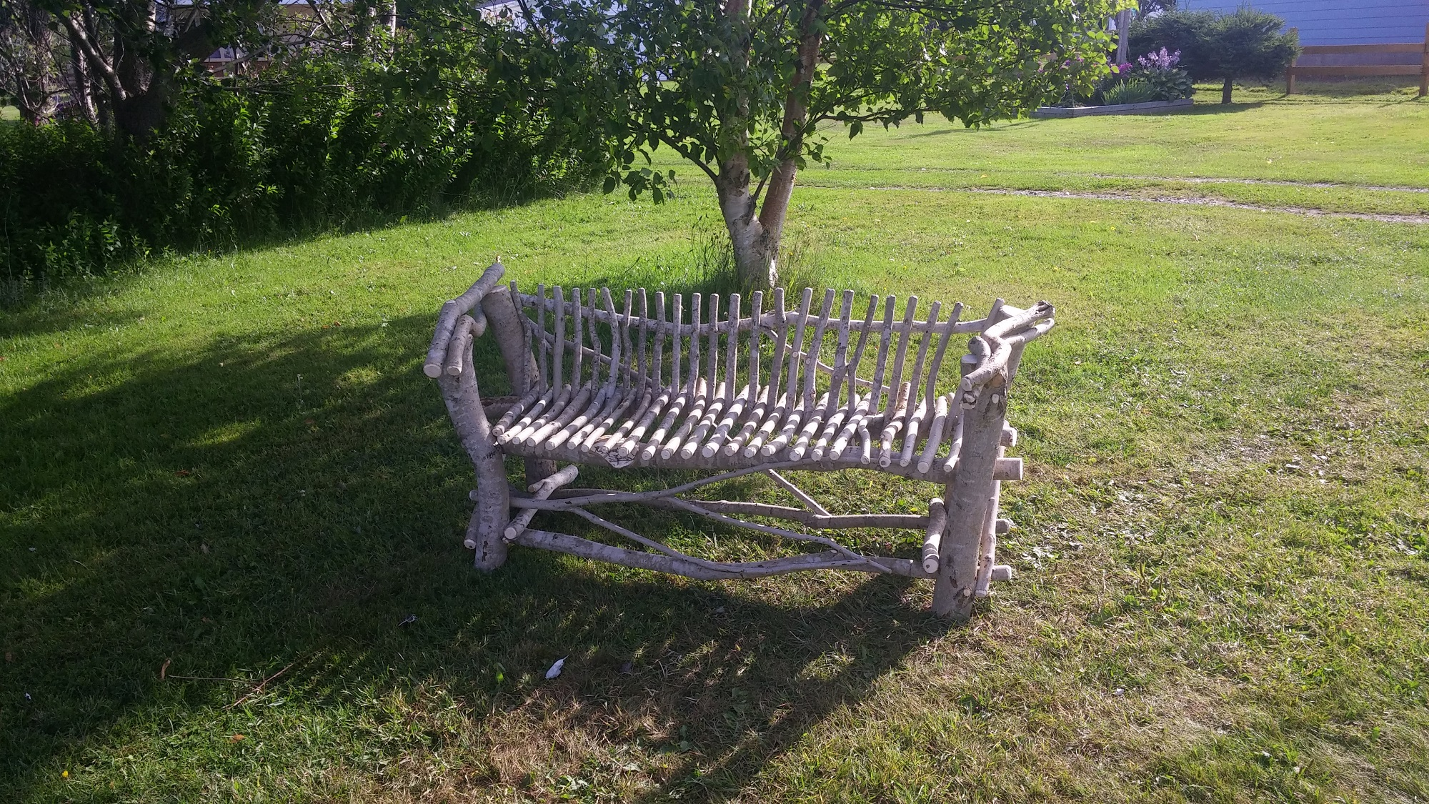 Low Back Love Seat - Mountain Maple - Natural Varnish - Price:$200.00